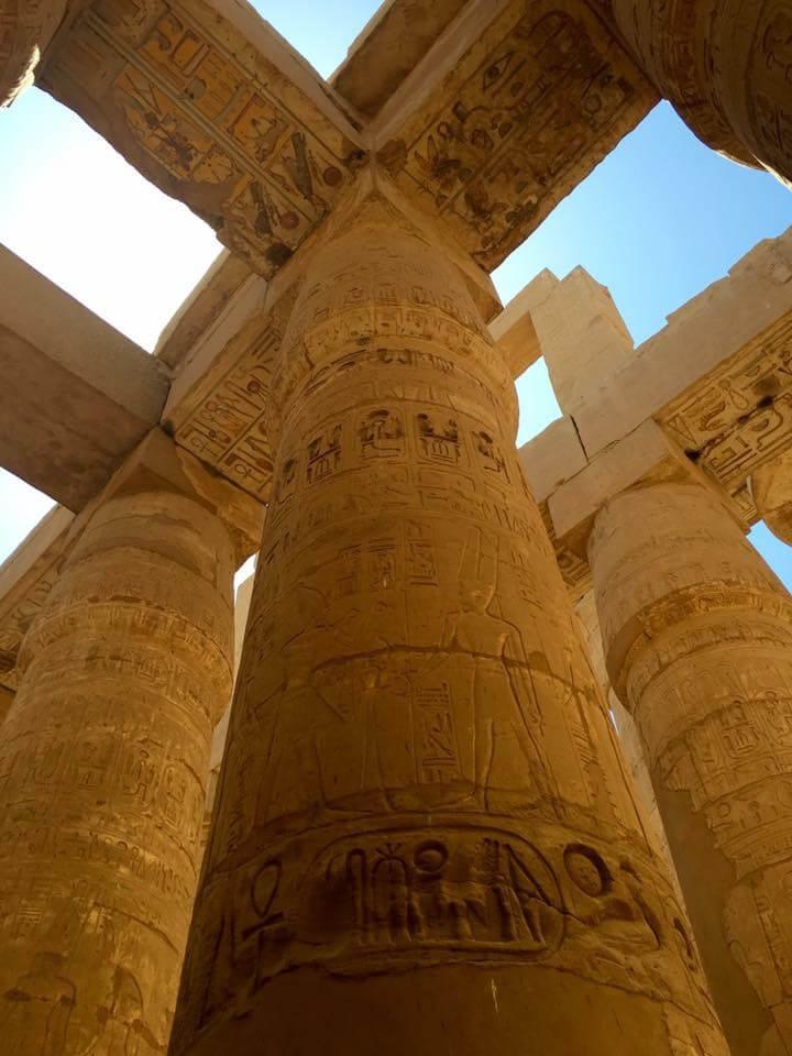luxor, egyiptom, théba, karnaki templom, oszlopcsarnok