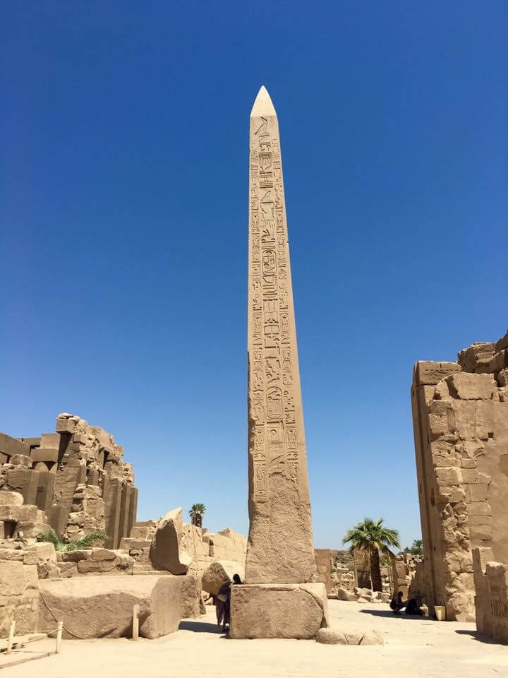 Egyiptom, Luxor, karnak, templom, obeliszk, kőoszlop, obelix. hatsepszut