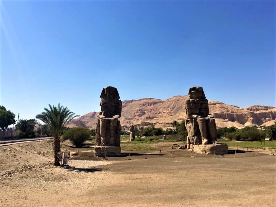 Memnón-kolosszus, III. Amenhotep fáraő szobra