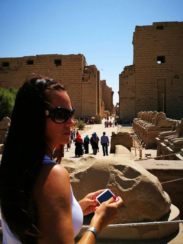 Egyiptom, Luxor, karnak, templom, fáraó, szfinx, kosfejű szfinx, pülon