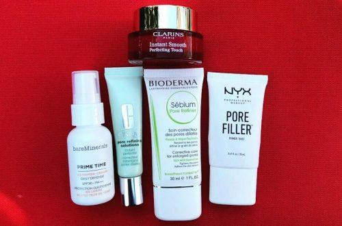 Bare minerals prime time, clinique pore refiner, bioderma pore refiner, nyx pore filler, clarins instant smooth